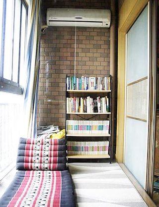 阳台改造休闲室效果图