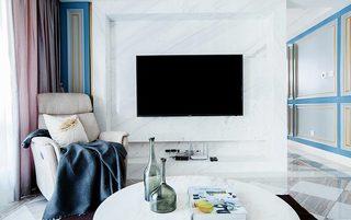 160㎡美式三居室电视背景墙图片