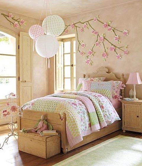 森系卧室背景墙图片