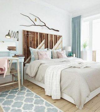 森系卧室装饰品布置图