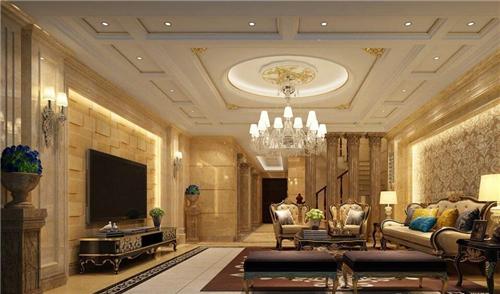客厅吊顶灯带效果图 时尚温馨吊顶灯带装修图片