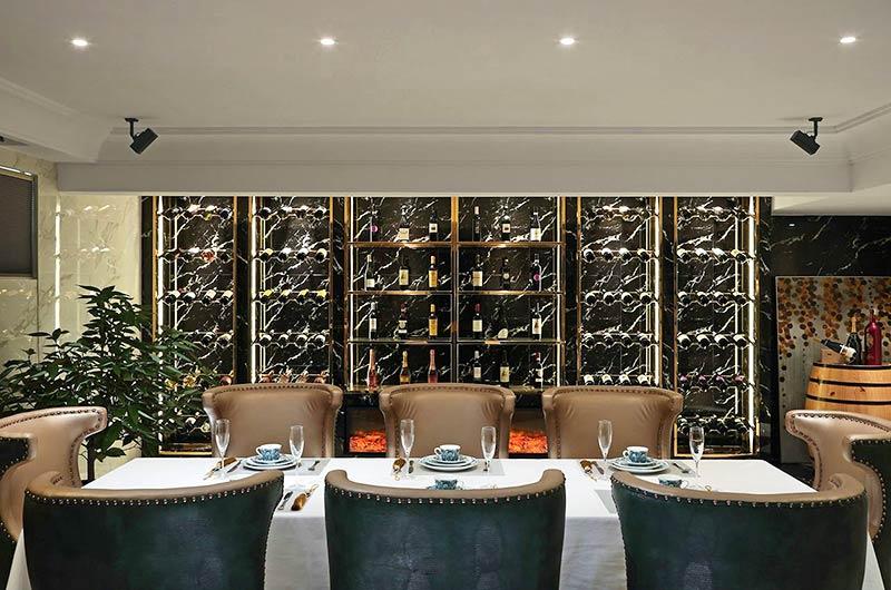 350平混搭风格别墅西餐厅设计图