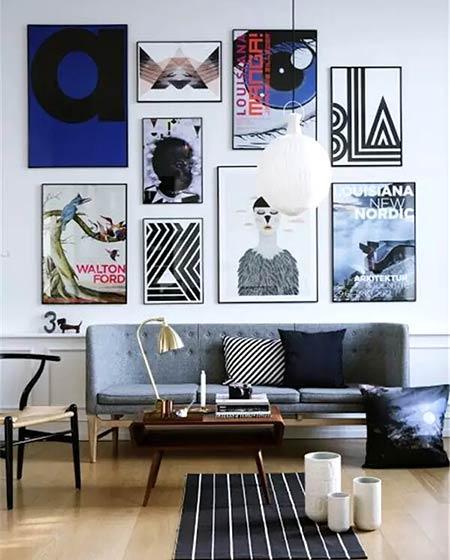 简约风格客厅三人沙发图