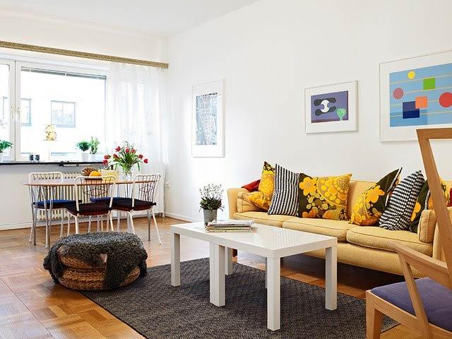 小户型装修客厅三人沙发