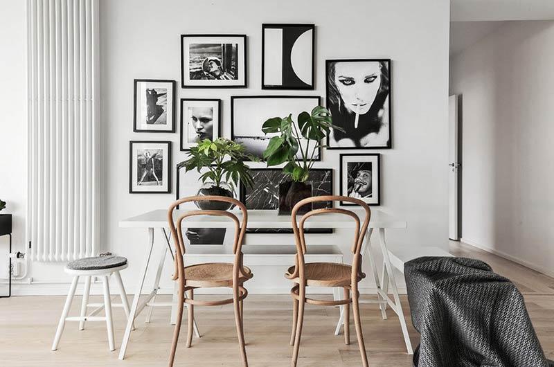 北欧风格公寓餐厅背景墙装饰画