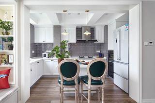 160平美式风格四居厨房装修图