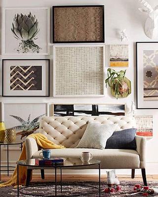 客厅双人沙发布置图