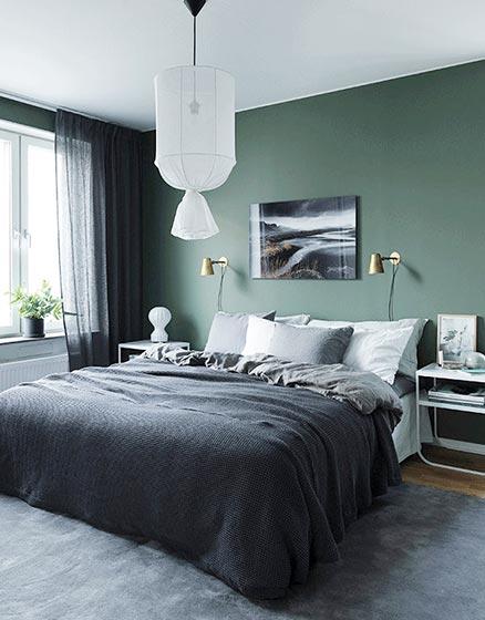 卧室床头背景布置欣赏图片