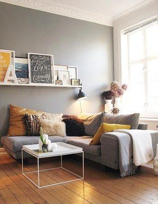 彩色客厅布置构造图
