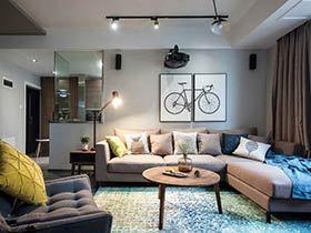 110现代简约风格两室两厅装修 舒适无压空间