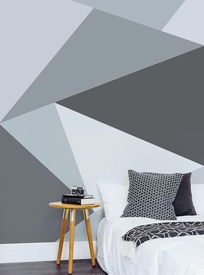 几何图案背景墙设计实景图片