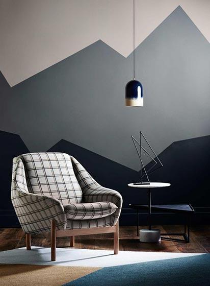 几何图案背景墙设计平面图