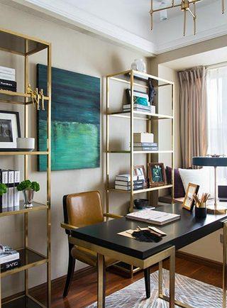 二居室书房设计平面图