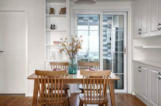140平北欧三居室餐厅装修图