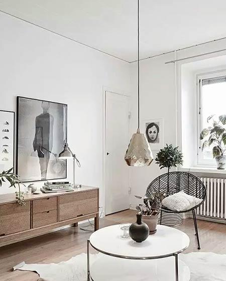 北欧风格装修木地板图片