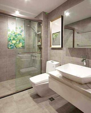 120平简约三居室卫生间干湿分离