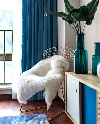 89平现代简约风格小三室装修 静谧海洋蓝9/11