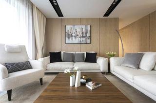 144平简约四房装修客厅效果图