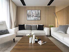 144平简约风格四房装修效果图 舒适干练家