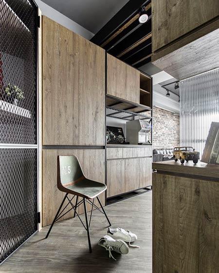 70平loft风格公寓收纳柜设计