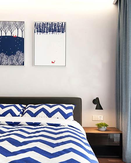 135平宜家风格三居卧室装饰画