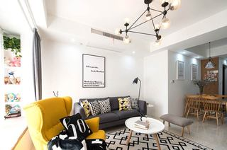 90平北欧小三居休闲沙发设计图
