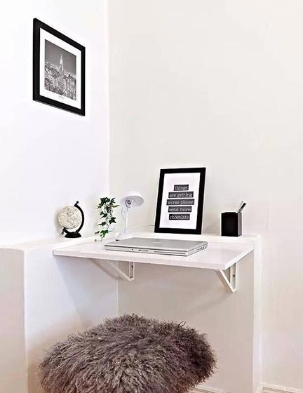 搁板书桌装修装饰效果图