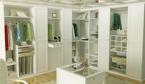 整体衣柜内部效果图 整体衣柜打造时尚衣帽间