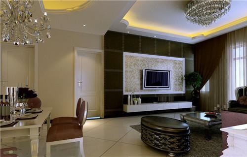 造型,质感都是恰到好处的,十分适合电视背景墙使用,尤其是电视上方的图片