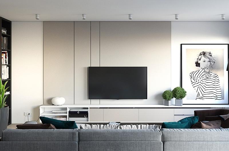 简约风格样板房电视背景墙装修