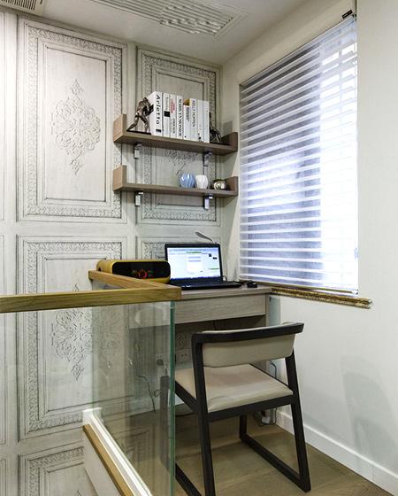200平复式楼装修楼梯书房设计