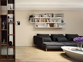 100平简约风格二居装修效果图 小资情调