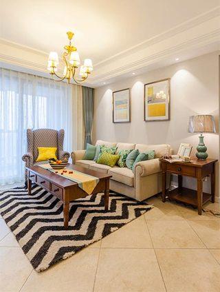 96平美式三居室装修装饰效果图