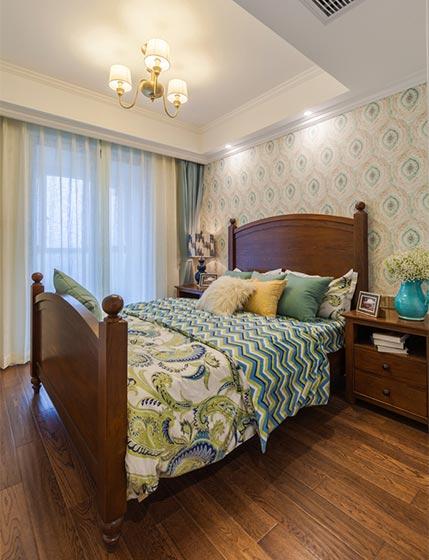 美式主卧室装修平面图