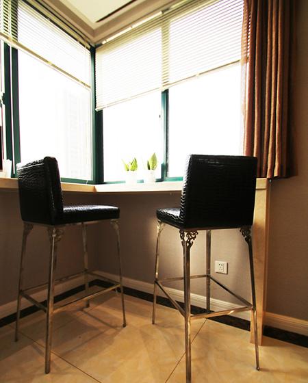138平简约三居室吧台装修图