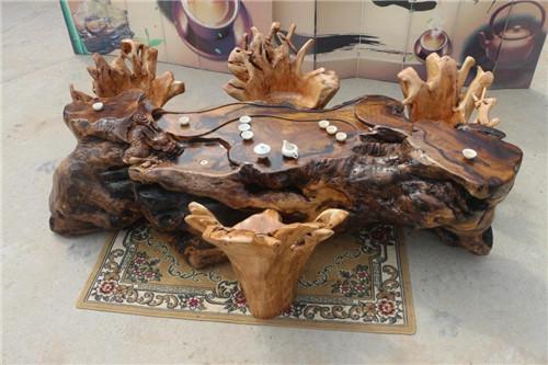茶桌茶台根雕设计大有文章 分享根雕茶桌日常保养之道