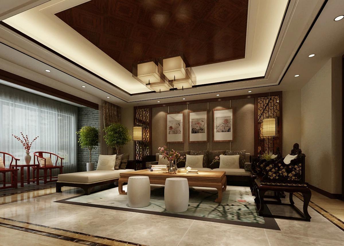 客厅吊顶灯带效果图 抬头就可以欣赏的美景
