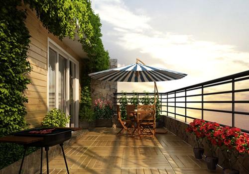 露天阳台装修效果图 顶楼露天阳台设计打造秘密花园