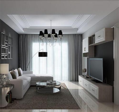 正方形客厅吊顶效果图 暖暖新家吊顶也是点睛之笔