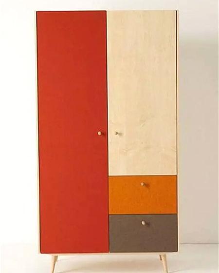 彩色卧室衣柜效果图大全