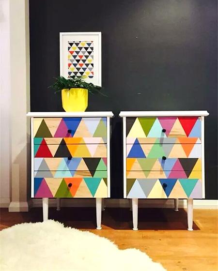 彩色玄关柜效果图设计