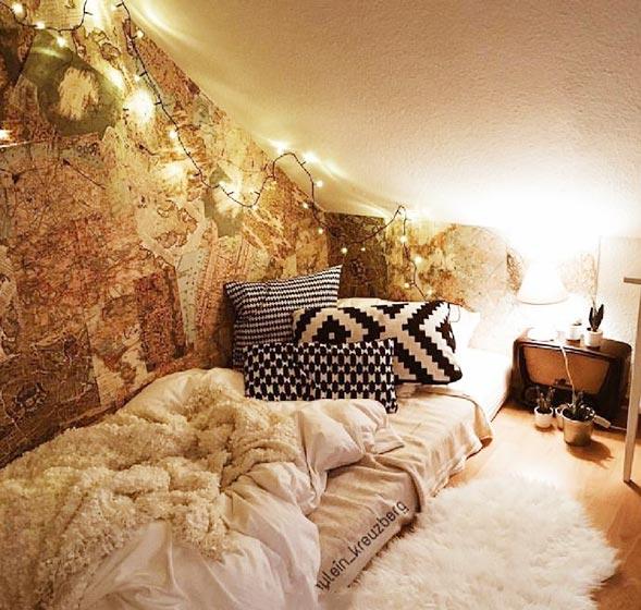 阁楼卧室布置欣赏图片
