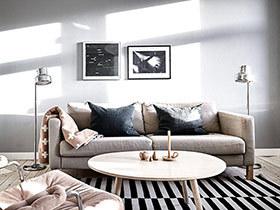 北欧风格一居室装修效果图 素雅灰色空间
