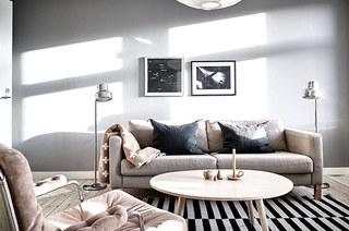 北欧风格一居室装修客厅图片