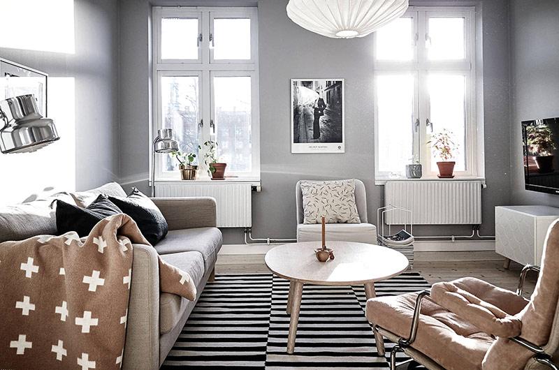 北欧风格一居室装修客厅沙发设计