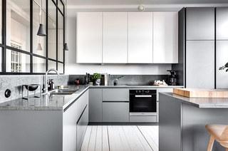 86平两室两厅装修整体厨房图片