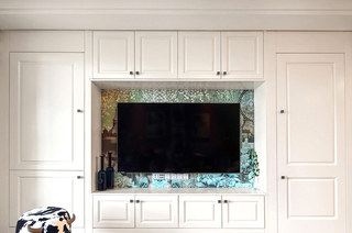 135平美式风格三居电视柜设计