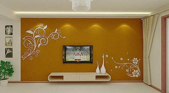 石膏板电视背景墙设计 客厅电视背景墙效果图欣赏