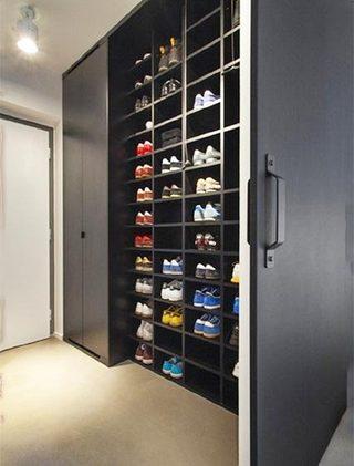 玄关鞋柜设计平面图