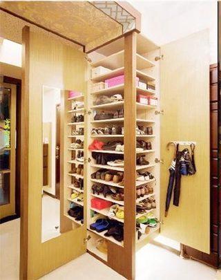 玄关鞋柜布置摆放图